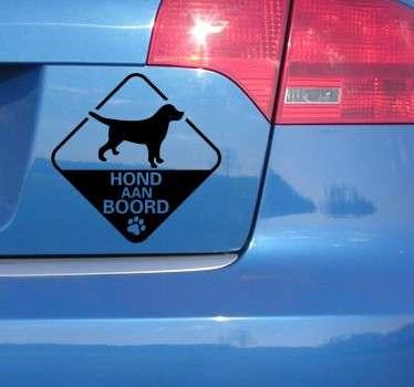 Sticker auto hond aan boord