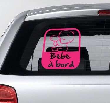 Un sticker original et moderne pour indiquer aux autres conducteurs que vous n'êtes pas seul à bord de votre véhicule.