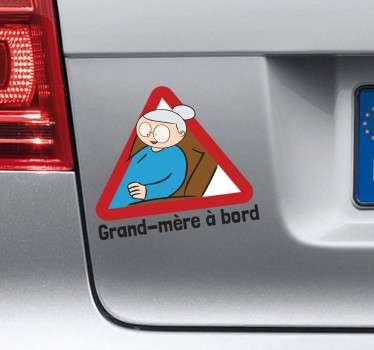 Sticker grand-mère à bord
