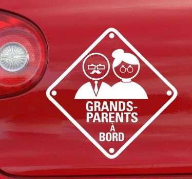 Sticker grands-parents à bord