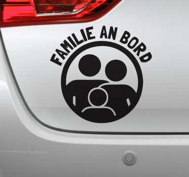 Autoaufkleber Familie an Bord
