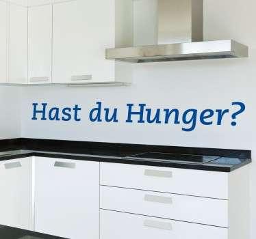 Hast du Hunger? Bestimmt! Mit diesem lustigen ansprechenden Fragen Wandtattoo können Sie Ihre Küche verzieren. Tägliche Rabatte
