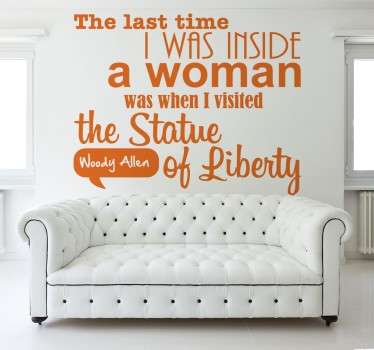 Wood Allen Quote Wall Sticker