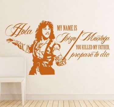 Sticker decorativo frase Iñigo Montoya