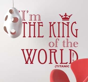 Sticker titanic king world