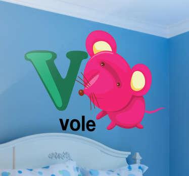Vinilo decorativo letra V