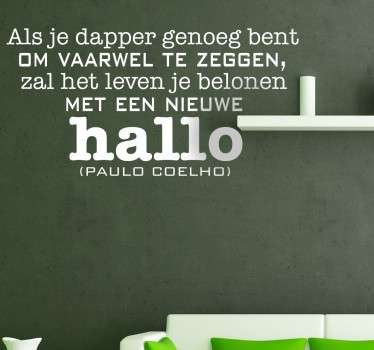 Sticker Decoratie vaarwel Coelho