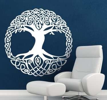 кельтская наклейка из дерева