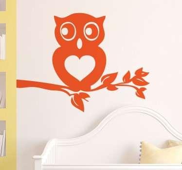 Mit dieser Herz-Eule als Wandtattoo können Sie der Wand in Ihrem Zuhause eine originelle Note verleihen. Und geschmackvoll dekorieren