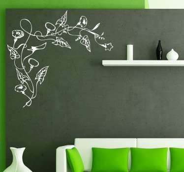Floral Vine Corner Decal
