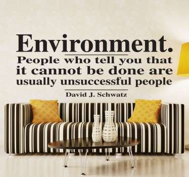 Environment Motivational Quote Wall Sticker