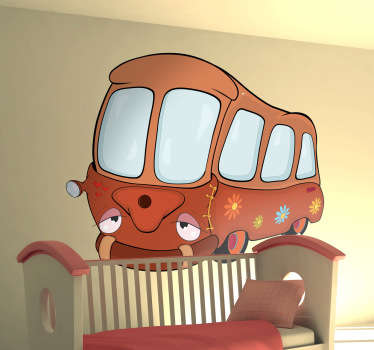 sticker kinderkamer schoolbus