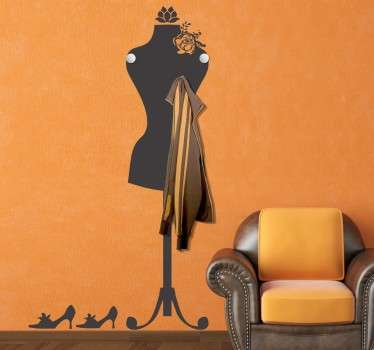 Mannequin Coat Rack Sticker