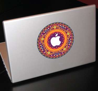 Mandala Bloemen Apple sticker