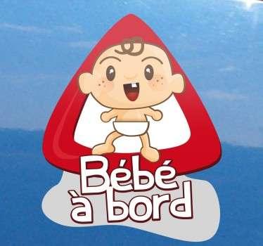 Sticker bébé à bord moderne