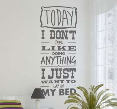 Bruno Mars Lazy Lyrics Sticker