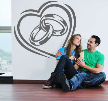 Love, Commitment, Relationship, Trust, Promise, Marriage... all of this reflected in this decorative heart wall art decal.