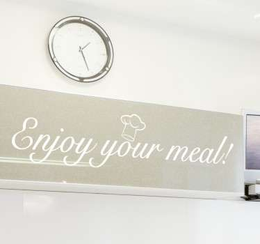 Restaurant Wall Stickers - Great text sticker ideal for decorating restaurants and cafe´s where delicious meals are prepared. Available in 50 colours.