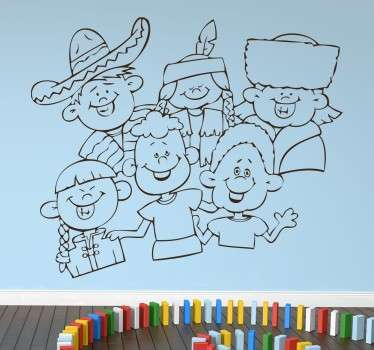 International Children Sticker