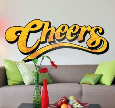 Vinilo logo Cheers color
