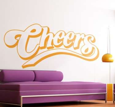 Adhesivo decorativo logo Cheers