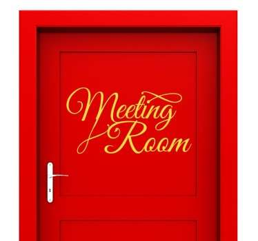 Decals - Elegant calligraphy ideal to be placed on the door of your meeting room. Great for business.