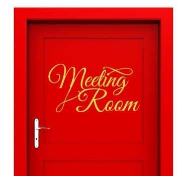 Meeting Room Sticker