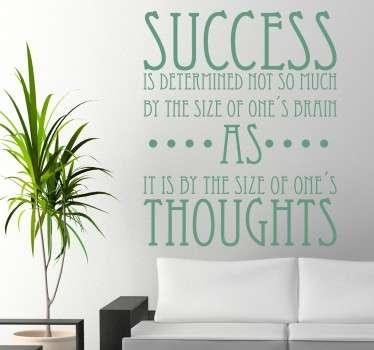 Naklejka przepis na sukces