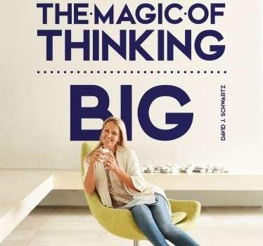 Vinil decorativo thinking big
