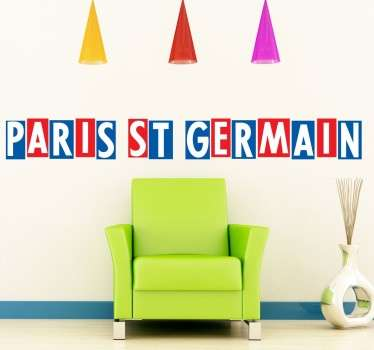 Adhesivo Paris St Germain horizontal
