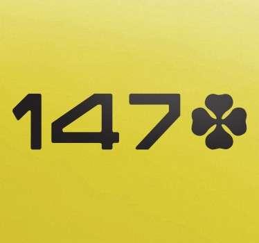 Adhesivo pegatina 147 trébol