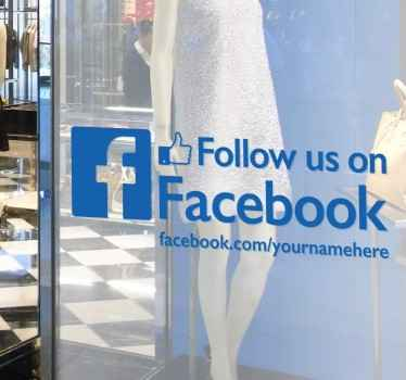 Business Signs - A great way for promoting the Facebook page of your business. High quality decals ideal for the windows of your store front.
