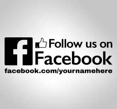Följ oss på facebook klistermärke