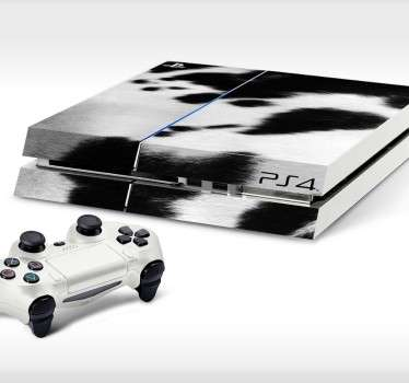 Sticker Playstation 4 koeien huid
