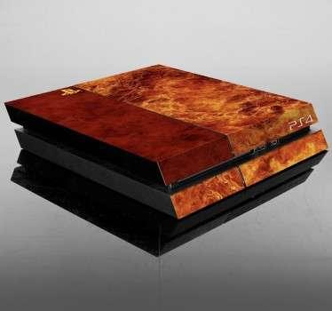Adeisvo para PS4 com textura do fogo