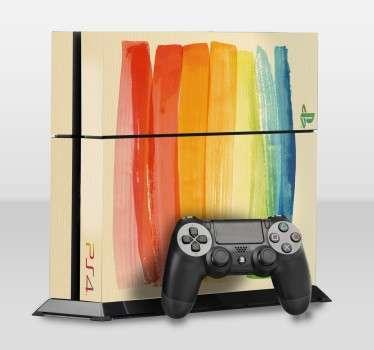 Farbstreifen Playstation Aufkleber