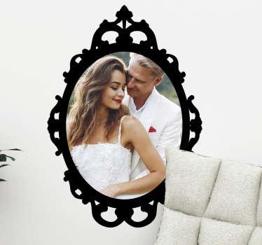 Sticker personnalisé cadre photo