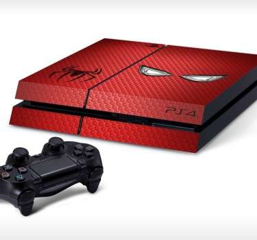 PS4 Skins-Customise your PlayStation 4 and make it original and distinctive with this Spiderman themed design.High quality stickers and decals
