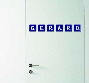 Personalised Scrabble Name Decal