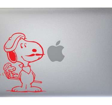 Sticker PC portable Snoopy moustaches