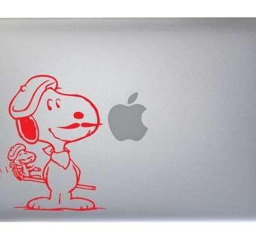 Adesivo Macbook Snoopy con i baffi