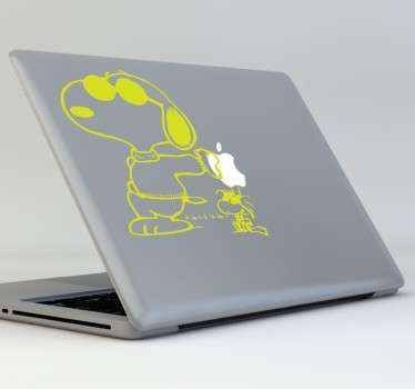 Sticker PC portable Snoopy lunettes