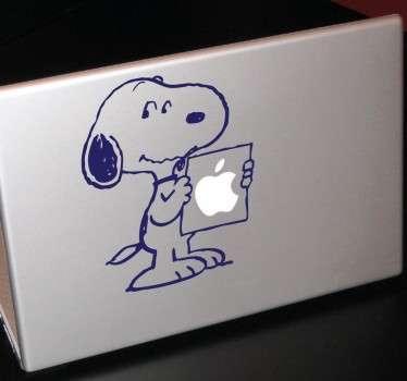 Naklejka na laptop Snoopy kartka