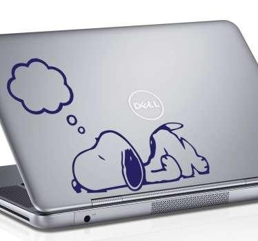 Snoopy Denkblase Laptop Aufkleber
