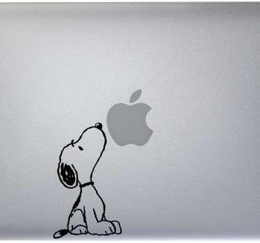 Vinilo portátil Snoopy olfateando