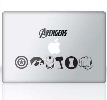 "Laptop sticker. Ben je een fan van de hit film ""The Avengers""? Of de respectievelijke strips van de beroemde Marvel?"