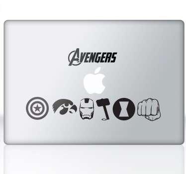Vinilo decorativo portátil Avengers