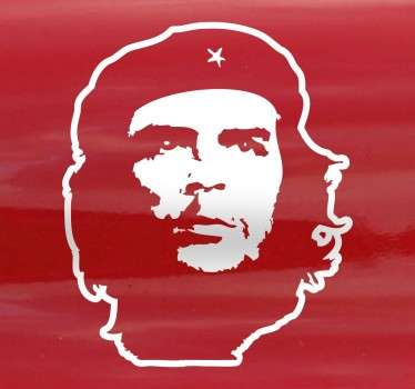 Portrait  character wall sticker  design of Che to decorate any space of choice. It is available in any required size and it is self adhesive.