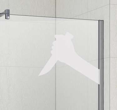 Psycho Knife Shower Sticker