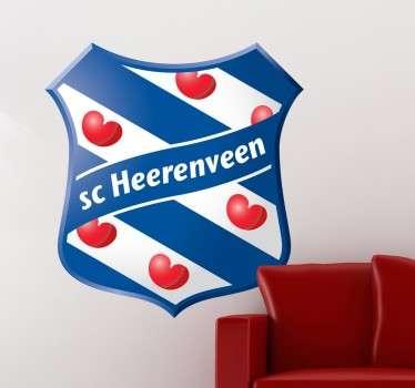 Mooie muursticker van de populaire club. Bekend in heel Nederland voor hun talenten. Mooie blauw strepen met helder hartjes.